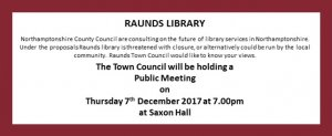 Public Meeting, Raunds Library