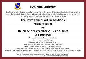 Raunds Library Public Meeting