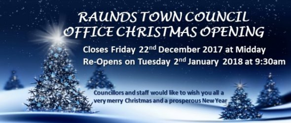 Image: Raunds Town Council Christmas Closure