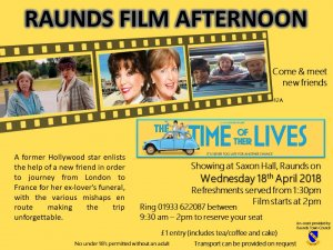 Raunds Film Afternoon - The Time of Their Lives