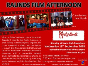 Raunds Film Afternoon - Kinky Boots