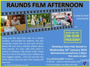 Raunds Film Afternoon - What We Did On Our Holiday