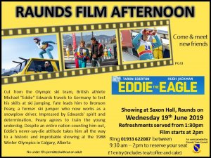 Raunds Film Afternoon - Eddie the Eagle