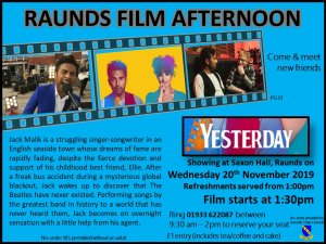 Raunds Film Afternoon - Yesterday