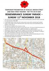 Remembrance Sunday Road Closure
