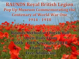 Pop Up Museum to Commemorate the Centenary of WW1
