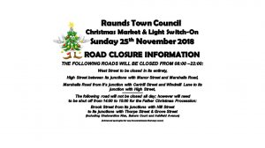 Road Closure Information Christmas Lights Switch On