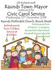 Raunds Mayor's Carol ServiceCivic