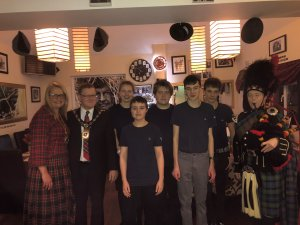 Over £700 raised for Stroke Association at the Mayor of Raunds Burns Night celebration