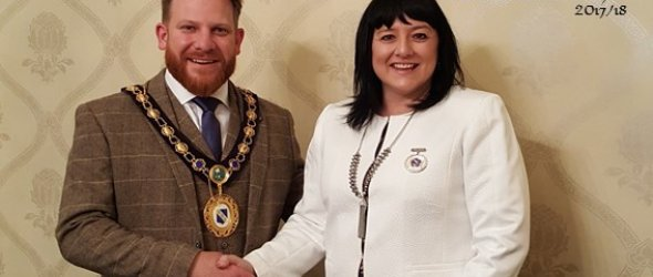 Image: Cllr Nick Beck elected as Raunds Town Mayor 2017/18