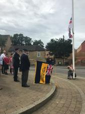 Raising a flag for Armed Forces Day