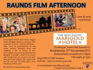 Raunds Film Afternoon - The Best Marigold Hotel